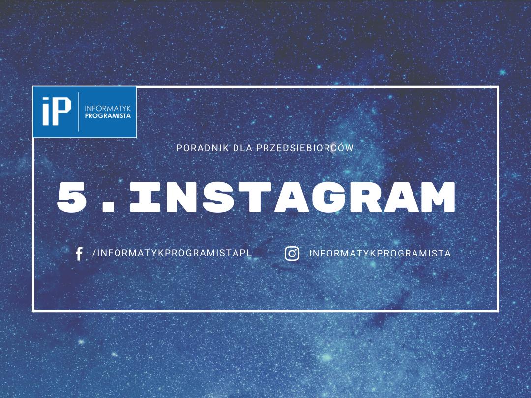 Instagram - Poradnik dla przedsiebiorców